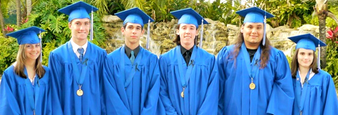 Graduation Picture of students of Center Academy Coral Springs