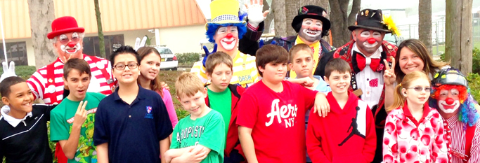 Clowning Around at One of Our Learning Disabilities Schools