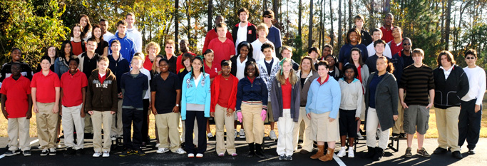 Group photo of students at St. Johns Bluff Jacksonville FL Center Academy